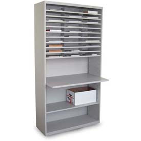 Marvel® 30 Compartment Mail Sorter with Adjustable Work Surface