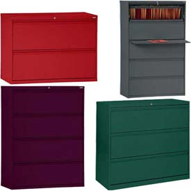 Colorful 2, 3, 4 & 5 Drawer Lateral Files - Full Width Drawer Pulls
