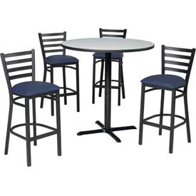 Premier Hospitality Furniture   Bar Height Café Table U0026 Ladder Back  Barstools Set