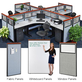 Interion™ Deluxe Cubicle Partition Panels