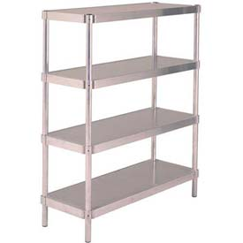 PVI - Aluminum Adjustable Stationary Shelving Units