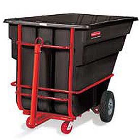Rubbermaid® 1026-41 1-1/2 Cubic Yard Towable Plastic Tilt Truck
