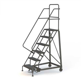 Heavy Duty 600 Lb. Capacity Steel Rolling Ladders
