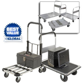 Best Value Folding Platform Trucks - Steel, Aluminum & Stainless Steel Decks