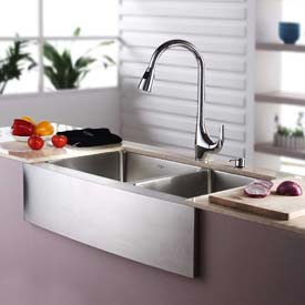 Pull Out Kitchen Faucets & Soap Dispensers