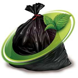 Mint-X Recycled Plastic Rodent Repellent Trash Bag