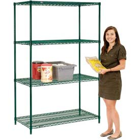 Nexel® Green Epoxy Wire Shelving