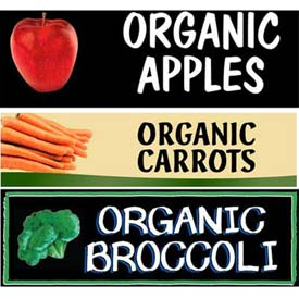 Miscellaneous Organic Grocery Signs
