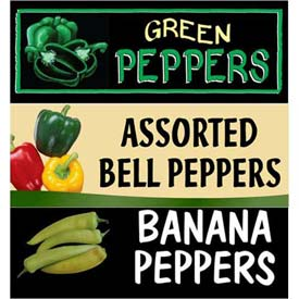 Peppers Grocery Signs