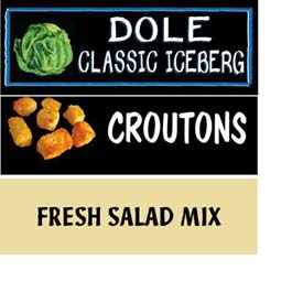 Salad, Dips & Dressing Grocery Signs