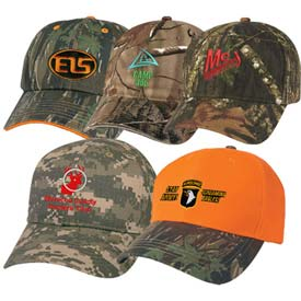 Embroidered Camouflage Caps