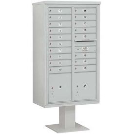 Salsbury 3400 Series 4C Horizontal Double Column Pedestal Mailboxes With Parcel Lockers