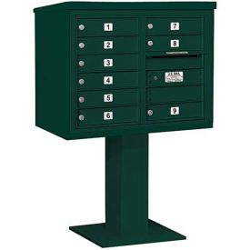 Salsbury 3400 Series 4C Horizontal Double Column Pedestal Mailboxes Without Parcel Lockers