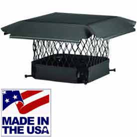 Draft King Black Galvanized Steel Chimney Caps