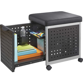 Safco® Scoot™ Mobile Filing Station with Cushioned Seat