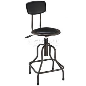 Interion™ Vinyl Industrial Stool - Pneumatic Height Adjustment
