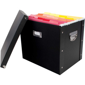 Advantus® Letter/Legal File Totes With Lids
