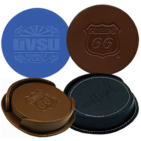 Customized Leather Coasters