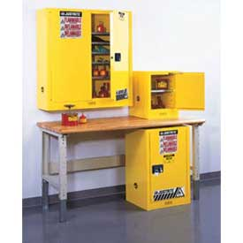 Justrite® Compact, Wall Mount And Bench High Flammable Cabinets