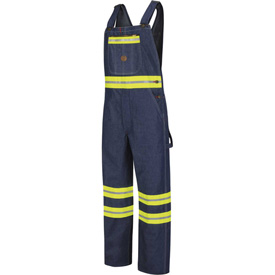 Enhanced Visibility Denim Bib Overalls