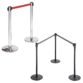 Adjustable Length Crowd Control Barrier