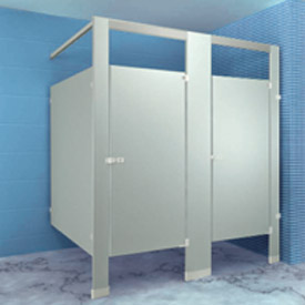 Metpar Overhead Braced Stainless Steel Bathroom Compartments