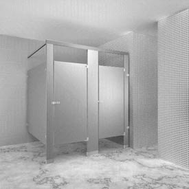 Bathroom Partition Glass Model bathroom partitions | stainless steel | metpar overhead-braced