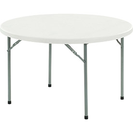 Interion® Extra Value Round Plastic Folding Tables
