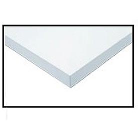 "96"" W x 36"" D x 1-1/4"" Thick, ESD Square Edge Workbench Top, White"