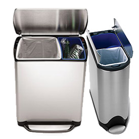 simplehuman® Recycling Cans