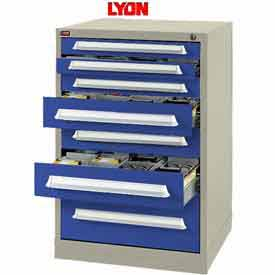 Lyon Modular Storage Drawer Cabinet PBS683030000E0 Full Height, Putty/Blue