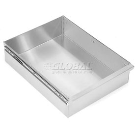 "Aero Manufacturing T-120 15""W x 20""D x 5""H Stainless Steel Drawer for Stainless Steel Workbench"