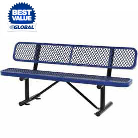 Steel Benches with Back - Expanded Metal or Perforated