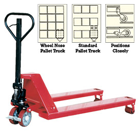 Vestil Wheel Nose Pallet Jack Trucks