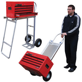 Vestil Aluminum Hand Truck with Folding Workbench