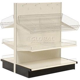 Lozier Gondola - Double Sided - Aisle Shelving