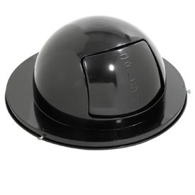 Rubbermaid® 1855 Steel 55 Gallon Self-Closing Dome Drum Top - Black