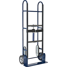 "Steel Appliance Hand Truck - 800 Lb. Capacity - 8"" Mold-On Rubber Wheels"