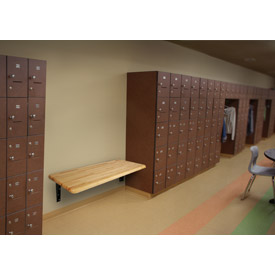 ada locker bench with wall mount bracket - Locker Room Benches
