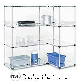 Stainless Steel Solid Shelving