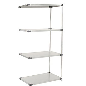 36x18x63 Stainless Steel Solid Shelving Add-On