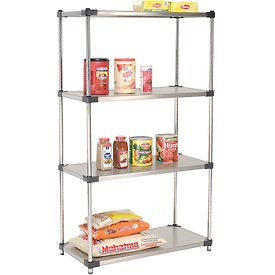 48x24x74 Stainless Steel Solid Shelving