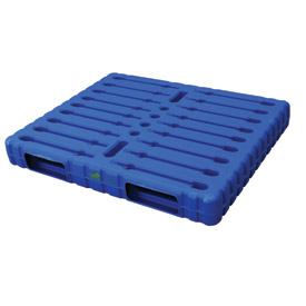 Two-Way Entry Stackable Blue Plastic Pallet
