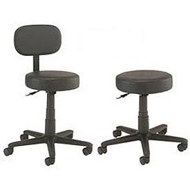 Interion™ - All Purpose Vinyl Stools With Black Base