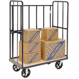 High End Wood Shelf Package Trucks