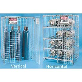 Gas Cylinder Storage Cage - Steel Wire Mesh