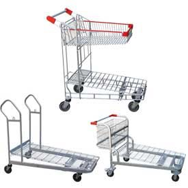 Vestil Nestable Wire Shopping Carts