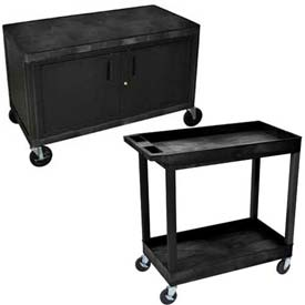 Luxor® Industrial Plastic Storage Carts