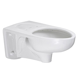 American Standard Afwall 2257101.020 Low Flow Toilet, Wall Hung, Elongated 1.1-1.6GPF