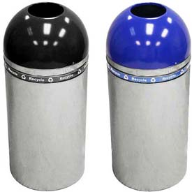 Dome Recycling Receptacle With Open Top